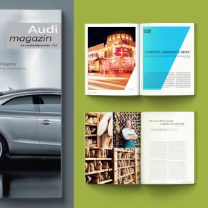 editorialdesign für audi magazin