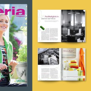 editorialdesign für galeria magazin